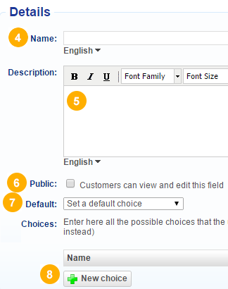 Dropdown custom field for customer and participants – Bookeo